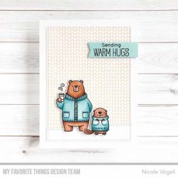 My Favorite Things Knitted Sweater Background Stamp