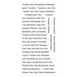 My Favorite Things Bitty Thanks & Gratitude Stamp Set