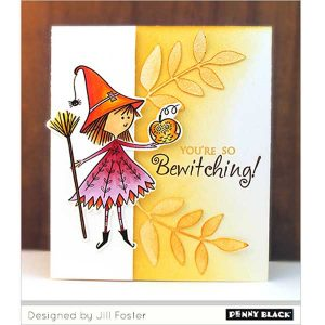 Penny Black Sweet Witch Cling Stamp class=