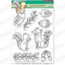 Penny Black Acorns & Animals Stamp Set