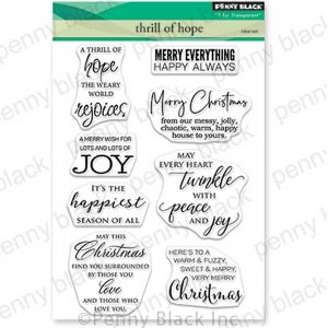 Penny Black Thrill Of Hope Stamp Set