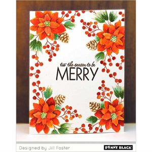 Penny Black Merry Builder Stamp Set class=
