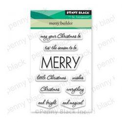 Penny Black Merry Builder Stamp Set
