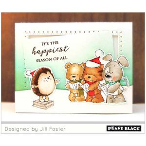 Penny Black Carefree Christmas Stamp Set class=