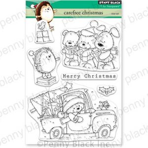 Penny Black Carefree Christmas Stamp Set