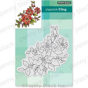 Penny Black Poinsettia Poem Cling Stamp
