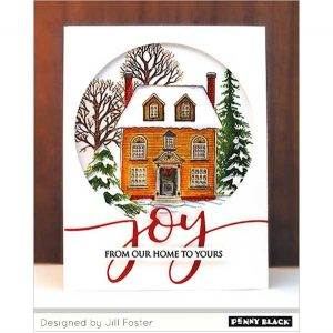 Penny Black Warm Reception Cling Stamp class=