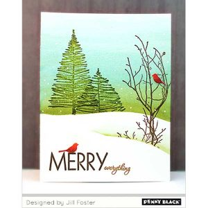 Penny Black Saplings Cling Stamp class=