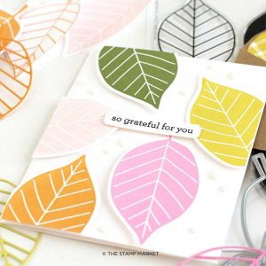 The Stamp Market Large Leaves Stamp Set class=