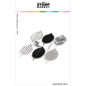 The Stamp Market Large Leaves Stamp Set