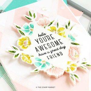 The Stamp Market Floral Diamond Stamp Set class=