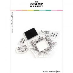 The Stamp Market Floral Diamond Stamp Set