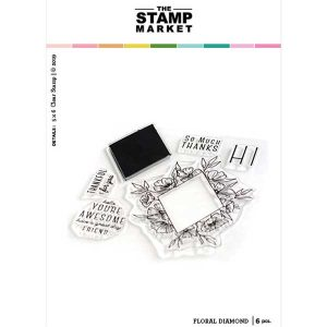 The Stamp Market Floral Diamond Stamp Set