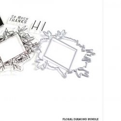 The Stamp Market Floral Diamond Die