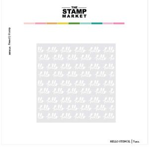 The Stamp Market Hello Stencil