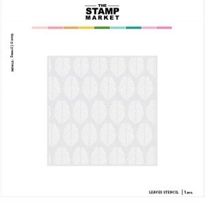 The Stamp Market Leaves Stencil