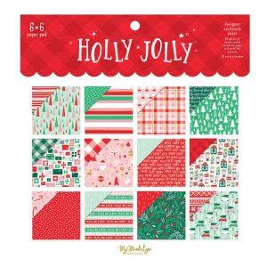 "My Mind's Eye Holly Jolly Paper Pad - 6"" x 6"""