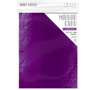 Tonic Studios Craft Perfect Mirror Card High Gloss – Electric Purple class=