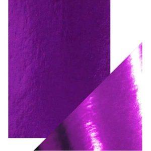 Tonic Studios Craft Perfect Mirror Card High Gloss – Electric Purple