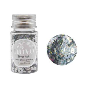 Nuvo Pure Sheen Sequins - Silver Rain