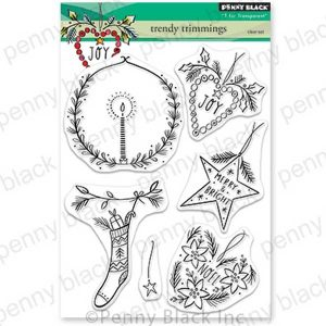 Penny Black Trendy Trimmings Stamp Set