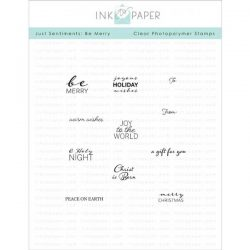 Ink To Paper Just Sentiments: Be Merry Mini Stamp Set