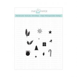 Ink To Paper Watercolor Textures: Christmas Mini Stamp Set