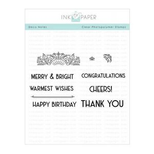Ink To Paper Deco Notes Stamp Set