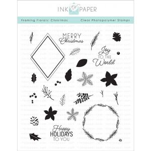 Ink to Paper Framing Florals: Christmas Stamp Set