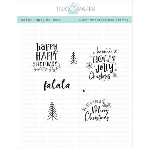 Ink To Paper Happy Happy Holidays Stamp Set