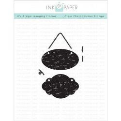 Ink To Paper It's A Sign: Hanging Frames Stamp Set