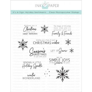 Ink To Paper It's A Sign: Holiday Sentiments Stamp Set