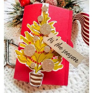 Ink To Paper Cheerful Tree Stamp Set class=