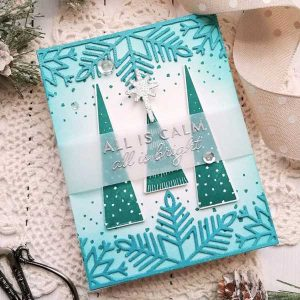 """Ink To Paper On The Border: Splendid Snowflake Border Die <span style=""""color:red;"""">Reserve – more on the way</span> class="""