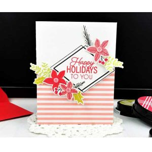 Ink To Paper Framing Florals: Christmas Die class=