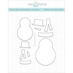 Ink To Paper Go-To Gift Card Holder: Snowman Die