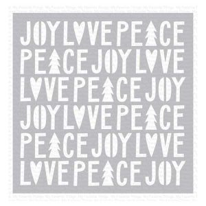 My Favorite Things Peace, Love, and Joy Stencil