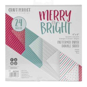 Tonic Studios Merry & Bright Paper Pack – 6″ x 6″
