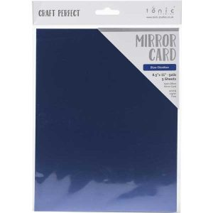 Tonic Studios Craft Perfect Mirror Card Satin - Blue Obsidian