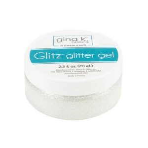 Gina K Designs Glitz Glitter Gel – White