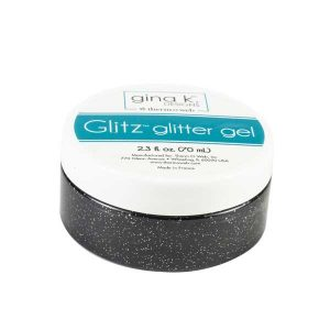 Gina K Designs Glitz Glitter Gel – Black