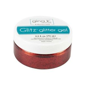 Gina K Designs Glitz Glitter Gel - Red Velvet class=