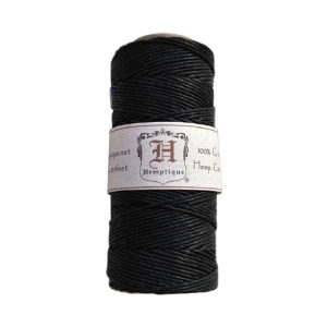 Hemptique Hemp Cord - Black