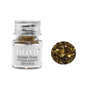 Nuvo Pure Sheen Gemstones - Golden Ovals
