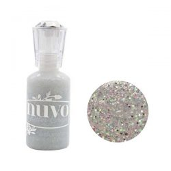 Nuvo Glitter Drops - Silver Crystals