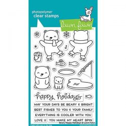 Lawn Fawn Beary Happy Holidays Stamp Set