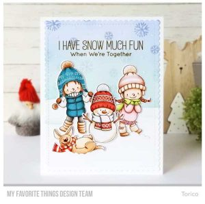 My Favorite Things BB Snow Buddies Stamp Set class=