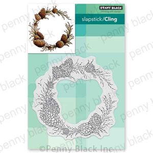 Penny Black Conifer Wreath