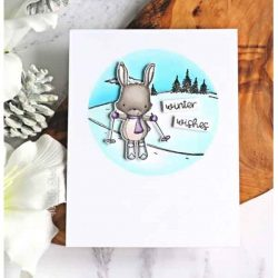 Purple Onion Designs Ember (Skiing Bunny)