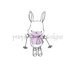 Purple Onion Designs Ember (Skiing Bunny)